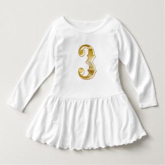 Happy 3rd Birthday Three Year Number Toddler Dress