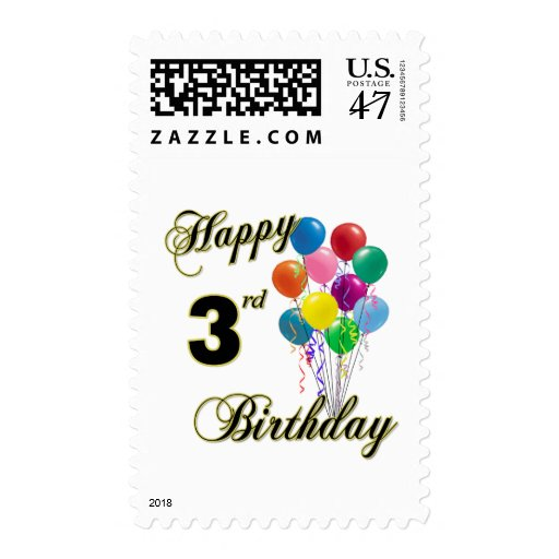 Happy 3rd Birthday US Postage Stamps