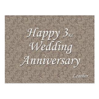 Happy 3rd. Wedding Anniversary Postcard