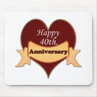 Happy 40th. Anniversary Mouse Pad