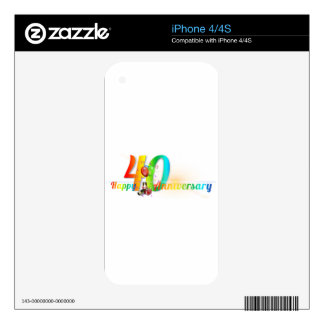 Happy 40th Anniversary Number  Balloon Party iPhone 4S Skins