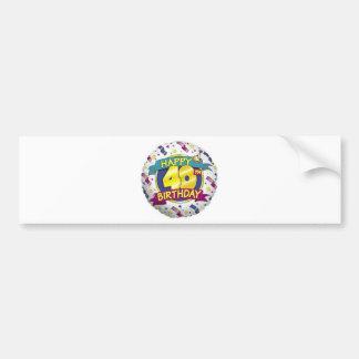 Happy 40th Balloon Bumper Stickers