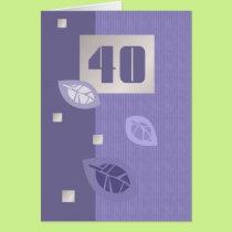 Happy 40th Birthday Customizable Greeting Cards
