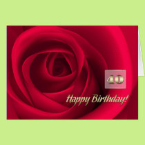 Happy 40th Birthday Customizable Greeting Cards