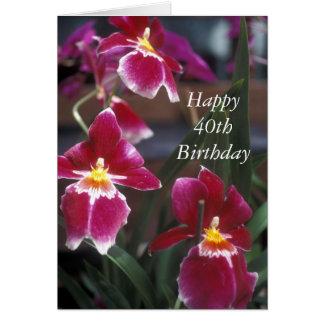 Happy 40th Birthday Flower Card