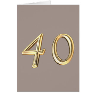 Happy 40th Birthday fourties fourty 40 40th forty Card