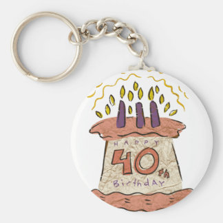 Happy 40th Birthday Gifts Keychain