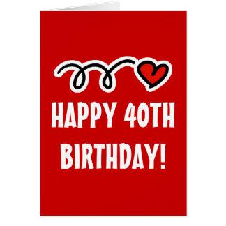 Happy 40th Birthday - Greeting card