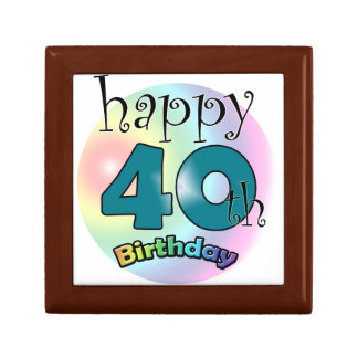Happy 40th Birthday Jewelry Box