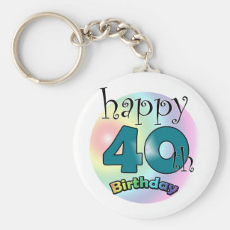 Happy 40th Birthday Keychain