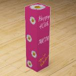 Happy 40th Birthday Mom Wine Gift Box