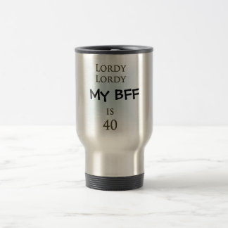 Happy 40th Birthday 15 Oz Stainless Steel Travel Mug