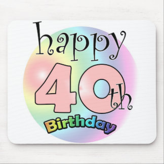 Happy 40th birthday (pink) mouse pad