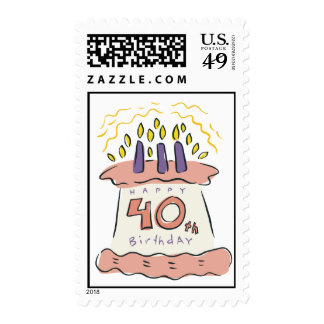 Happy 40th Birthday! Postage Stamp