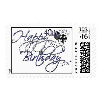 Happy 40th Birthday Postage Stamps
