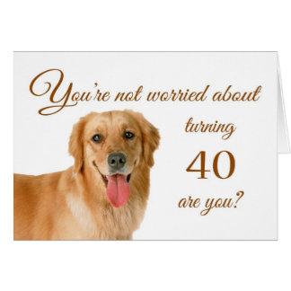 Happy 40th birthday, worried lab card