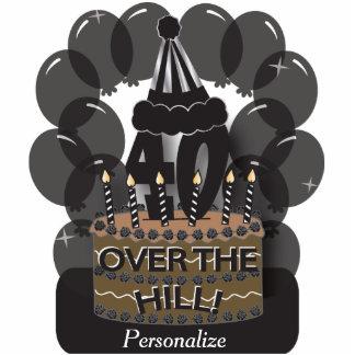 Happy 40th Black Balloon Birthday Cutout