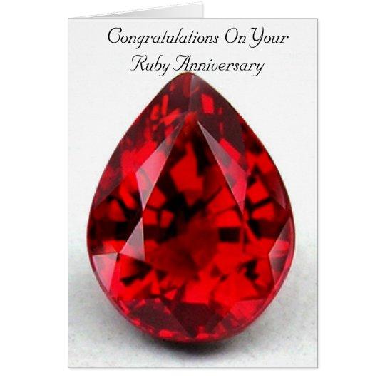 happy 40th wedding anniversary card ruby zazzle