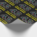 [ Thumbnail: Happy 43rd Birthday, Fun Colorful Stars Pattern 43 Wrapping Paper ]