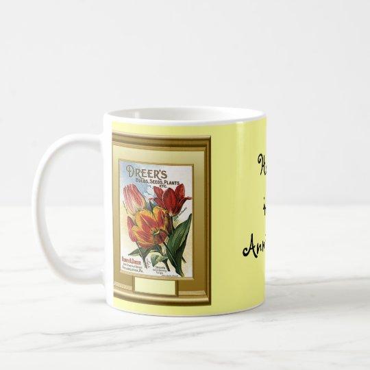 Happy 45th  Anniversary, tulips Coffee Mug