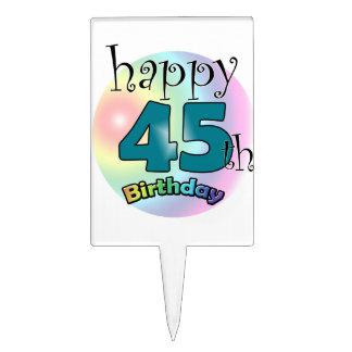 Happy 45th Birthday (blue) Cake Topper