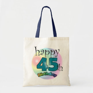 Happy 45th Birthday (blue) Tote Bag