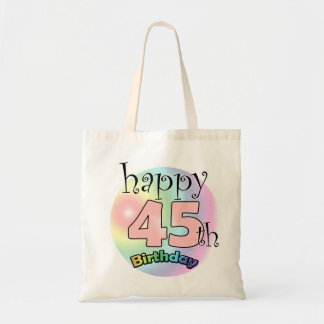 Happy 45th Birthday (pink) Tote Bag