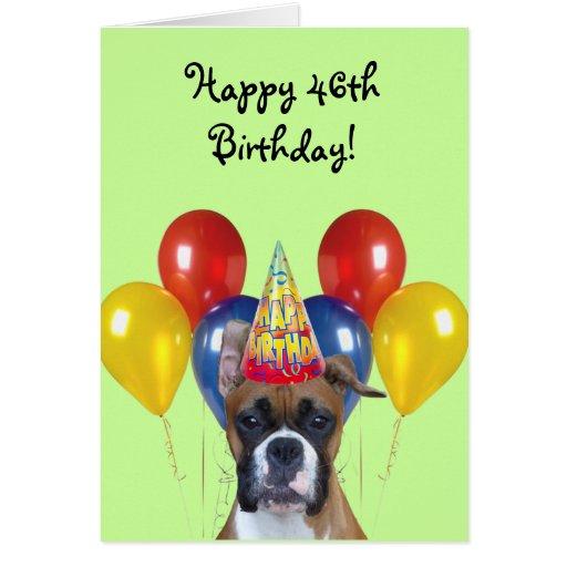 Happy 46th Birthday Boxer Dog Greeting Card Zazzle Happy 46 Birthday Wishes
