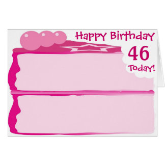 Happy 46th Birthday Greeting Card