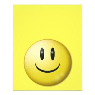"happy-4760 SMILIES EMOTICONS happy yellow super sm 4.5"" X 5.6"" Flyer"
