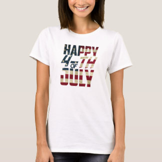 Happy 4-th of July T-Shirt | LimeSky |