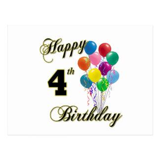 Happy fourth birthday card postcards zazzle happy 4th birthday cards and birthday post cards m4hsunfo
