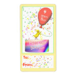 Happy 4th Birthday Chicken Gift Tag Personalized Shipping Labels