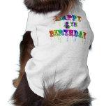 Happy 4th Birthday Circus Font Doggie Tshirt