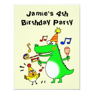Happy 4th Birthday I Am 4 Invitation