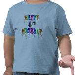 Happy 4th Birthday Shirts Hoodies and Tanks