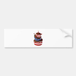 Happy 4th celebration cake car bumper sticker