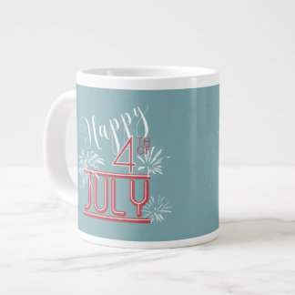 Happy 4th Fireworks ID185 Large Coffee Mug