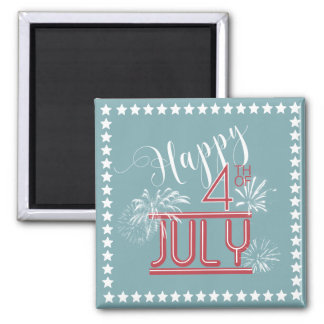 Happy 4th Fireworks ID185 Magnet
