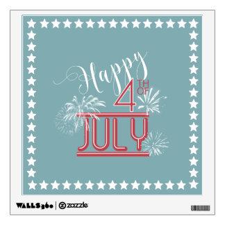 Happy 4th Fireworks ID185 Wall Decal