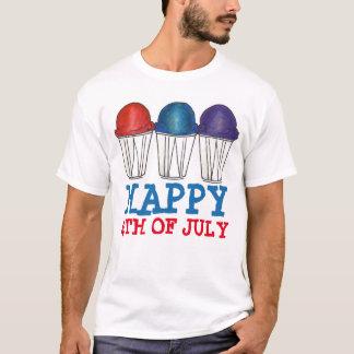 Happy 4th Fourth of July Italian Water Ice Tee