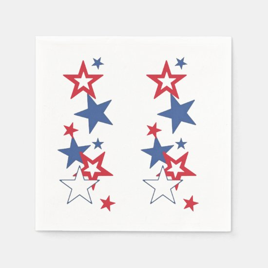 Happy 4th July 4th Party Paper Napkins