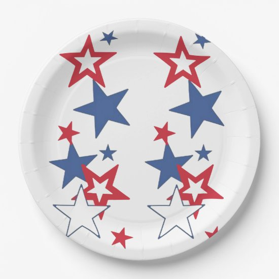 Happy 4th July 4th Party Paper Plates