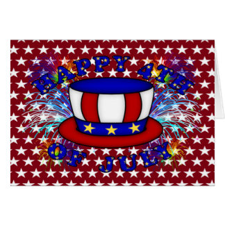 Happy 4th July Crackers Card