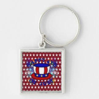 Happy 4th July Crackers Keychain