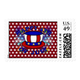 Happy 4th July Crackers Postage Stamp