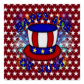 Happy 4th July Crackers Poster