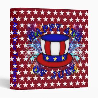 Happy 4th July Crackers Vinyl Binder