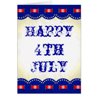 Happy 4th July Independence Day Card