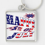 Happy 4th July Key Chain
